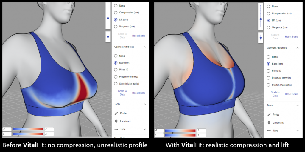 36D VSport with and without VitalFit